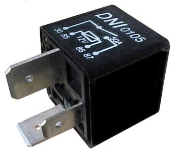 (DNI-0105) RELE AUX.-12V 50A S/SUP TERM.LARGO